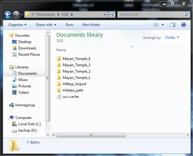 My Documents DG2 Inside Folder