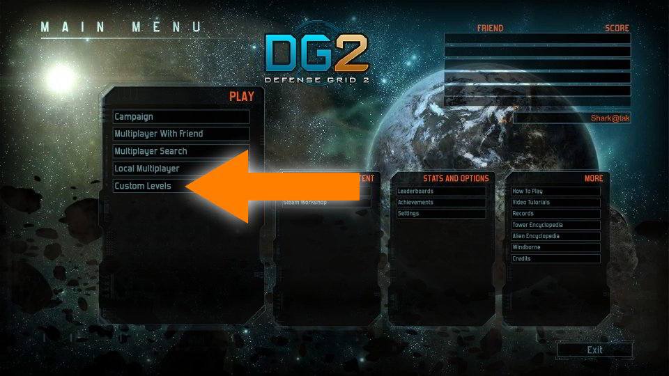 FAQ DG2 main menu pic